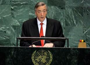Nestor Kirchner en la ONU