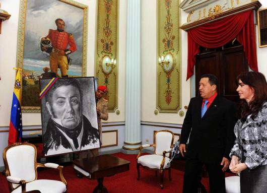 CFK y Chavez