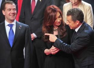Cristina en la Cumbre del G-20 2011 en Cannes