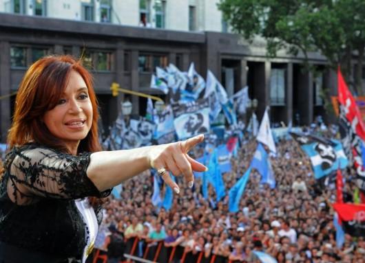 Cristina en Plaza de Mayo