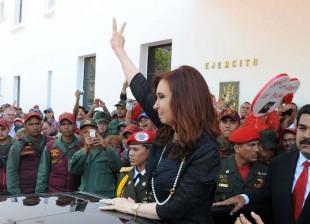 Cristina en Caracas, funeral de Hugo Chavez