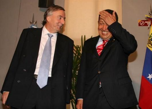 Netsor Kirchner y Hugo Chavez