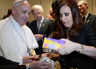 Cristina en Rio de Janeiro con el Papa Francisco