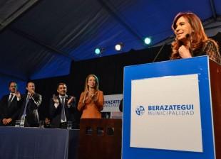 Cristina en la Expo Industrial de Berazategui 2013