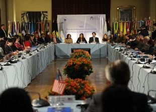 La presidenta Cristina Fernández encabeza la clausura de la conferencia general del Organismo para la Proscripción de las Armas Nucleares en América Latina y el Caribe (Opanal), en el Palacio San Martín.
