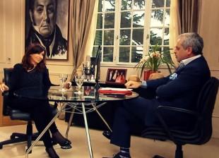 Cristina con Jorge Rial