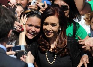 Cristina en Ezeiza