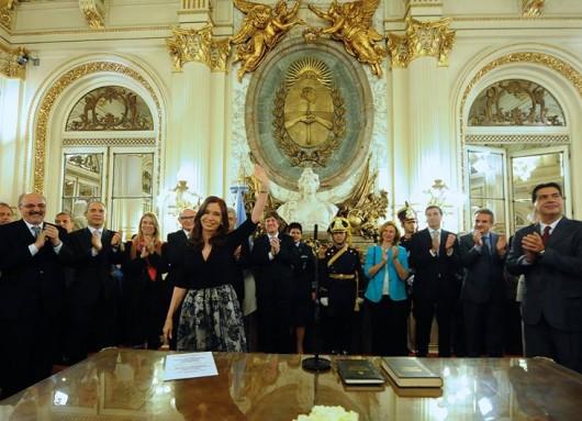 Cristina Kirchner en Casa Rosada