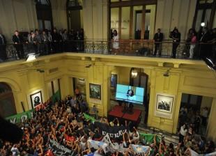 Lanzamiento de PROGRESAR - Cristina con la juventud en Casa Rosada.