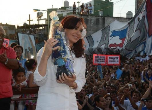 Cristina en la Villa 21-24 de Barracas