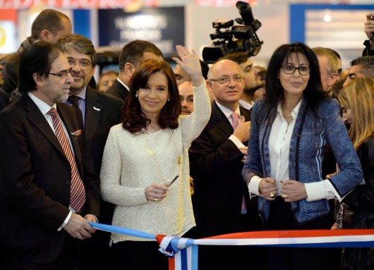 Cristina Kirchner en la feria del libro