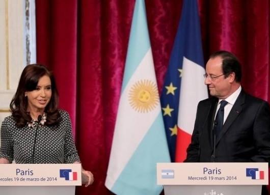 Visita oficial de Cristina a Francia