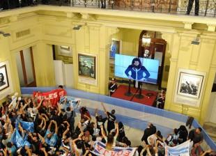 Cristina y la militancia