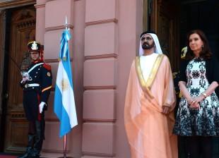 Cristina con el VP de Emiratos Arabes