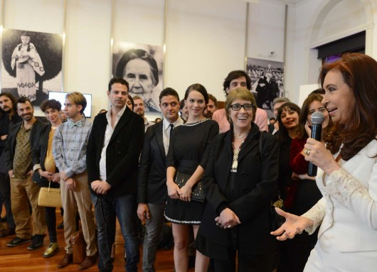 Hoy en Casa Rosada despedimos a los artistas que van a ir al Festival de Cannes.