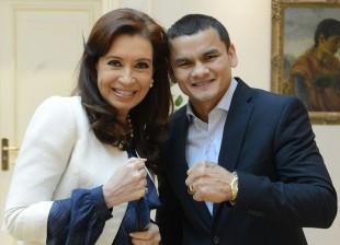 CFK con el Chino Maidana en Olivos...