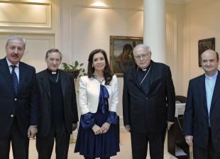 Cristina Kirchner con el Episcopado