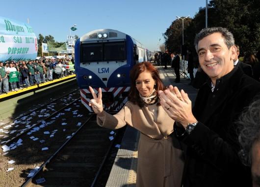Inauguración extensión línea San Martin.