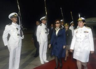 Cristina en Venezuela para cumbre Mercosur.