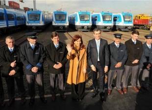 Recibimos las últimas 8 formaciones del Tren Sarmiento.