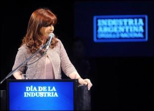 CFK en la cena del Día de la Industria en Tecnópolis.