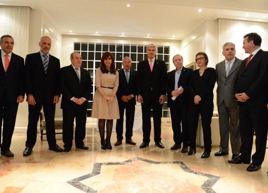 Cristina Kirchner con gobernadores