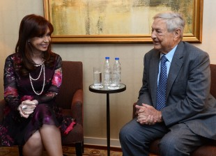 Audiencia de CFK con George Soros