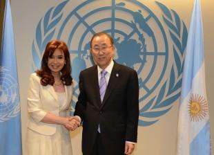 Cristina Kirchner con Ban Ki-moon