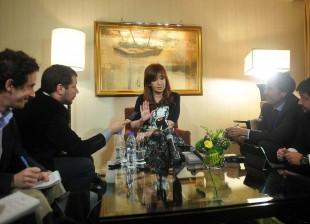 Cristina Kirchner en conferencia de prensa