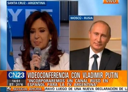 Cristina Kirchner con Putin