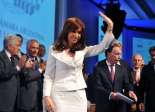 Hoy en el cierre de la 62 convención anual de la Cámara Argentina de la Construcción.