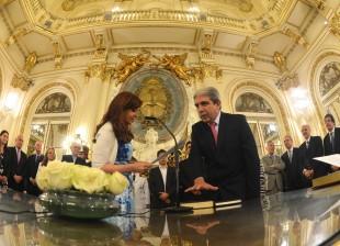 Cristina tomó juramento a Aníbal Fernández como Secretario General de la Presidencia