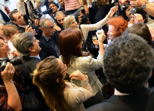 Brindis con periodistas acreditados en Casa de Gobierno