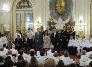 La Presidenta, Cristina Fernández de Kirchner, encabezó la ceremonia de ascenso de oficiales superiores de las Fuerzas Armadas.