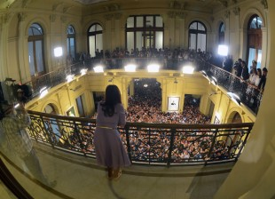 Cristina Kirchner en Casa Rosada.