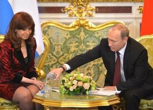 Cristina se reunió con Vladimir Putin, Presidente de la Federación Rusa, en Moscú.