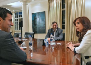 Cristina recibió esta tarde al gobernador salteño Juan Manuel Urtubey.