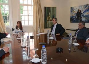 Cristina se reunió con integrantes de la comunidad armenia.