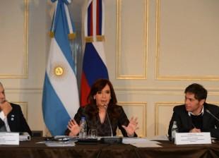 Reunión con CEOs de compañías rusas que buscan invertir en nuestro país. Cristina Kirchner.