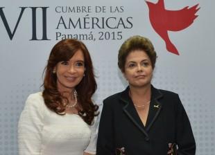 Reunión bilateral con Dilma en la Cumbre de las Américas en Panamá