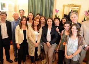 La Presidenta se reunió con integrantes de la Red de Científicos Argentinos en Italia.