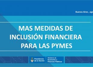 Paquete de siete medidas para la inclusión financiera de las pequeñas y medianas empresas en el mercado de capitales