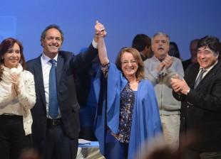 Con Daniel Scioli y Alicia Kirchner en Caleta Olivia