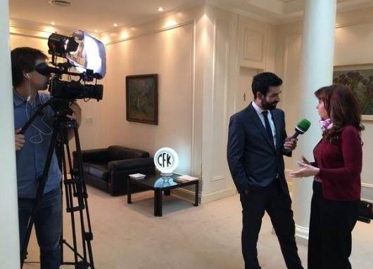 Entrevista de Cristina Kirchner con el canal ruso Actualidad RT